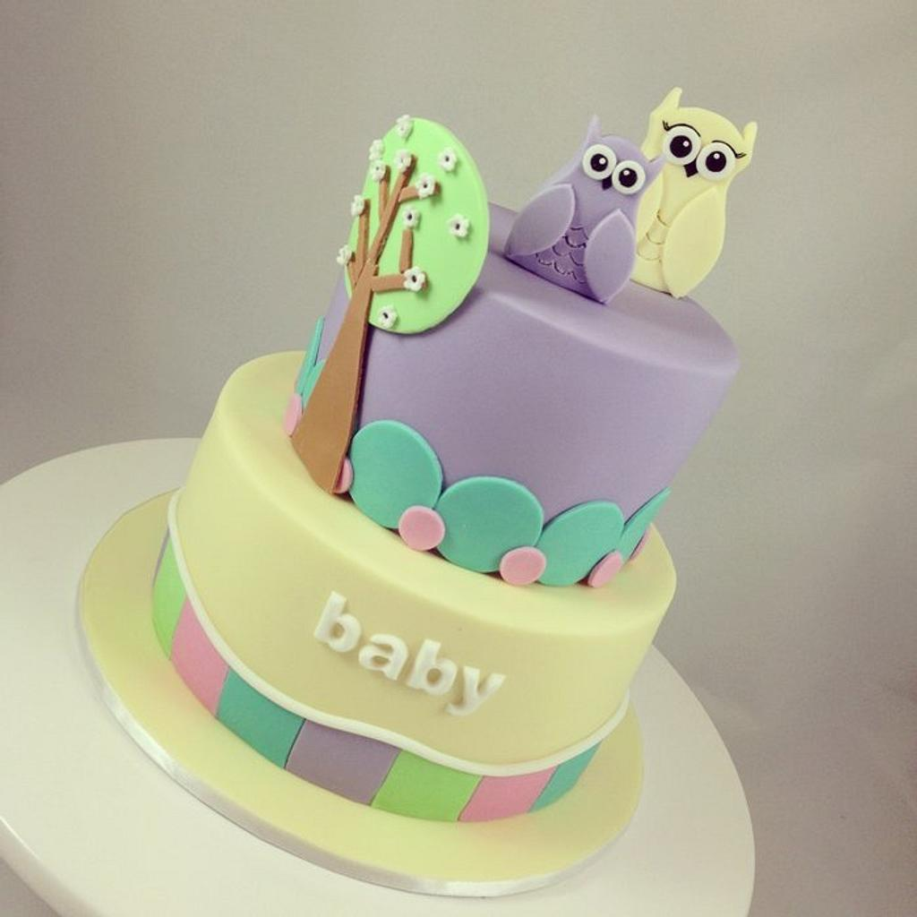 Babyshower Owl Cake by Word of Mouth Cakes