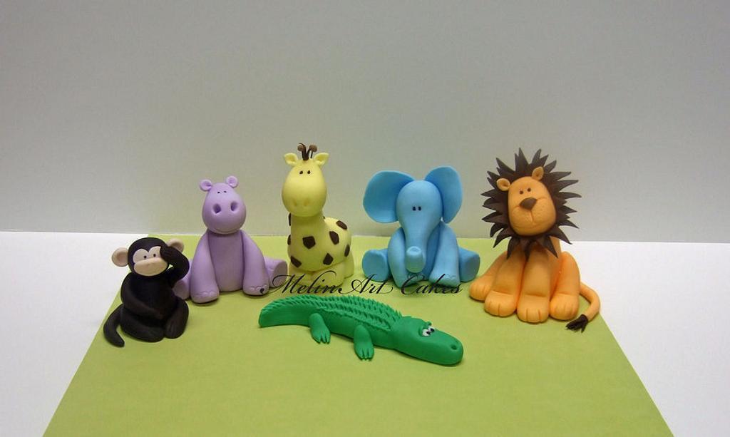 Safari animals cake topper by MelinArt