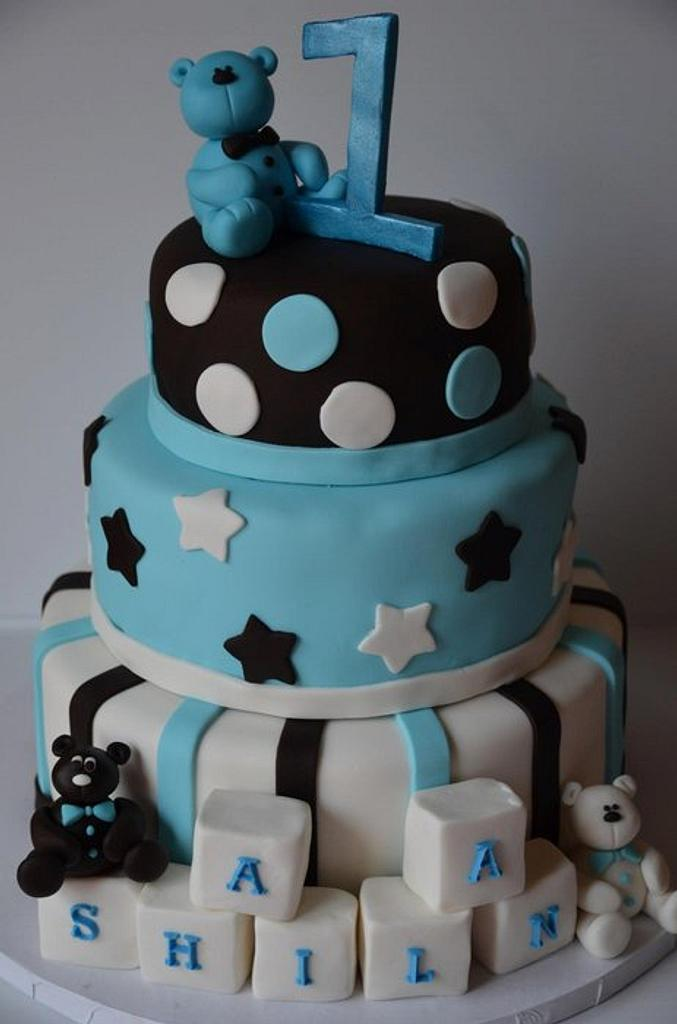 Tuxedo Bear Cake by Esther Williams