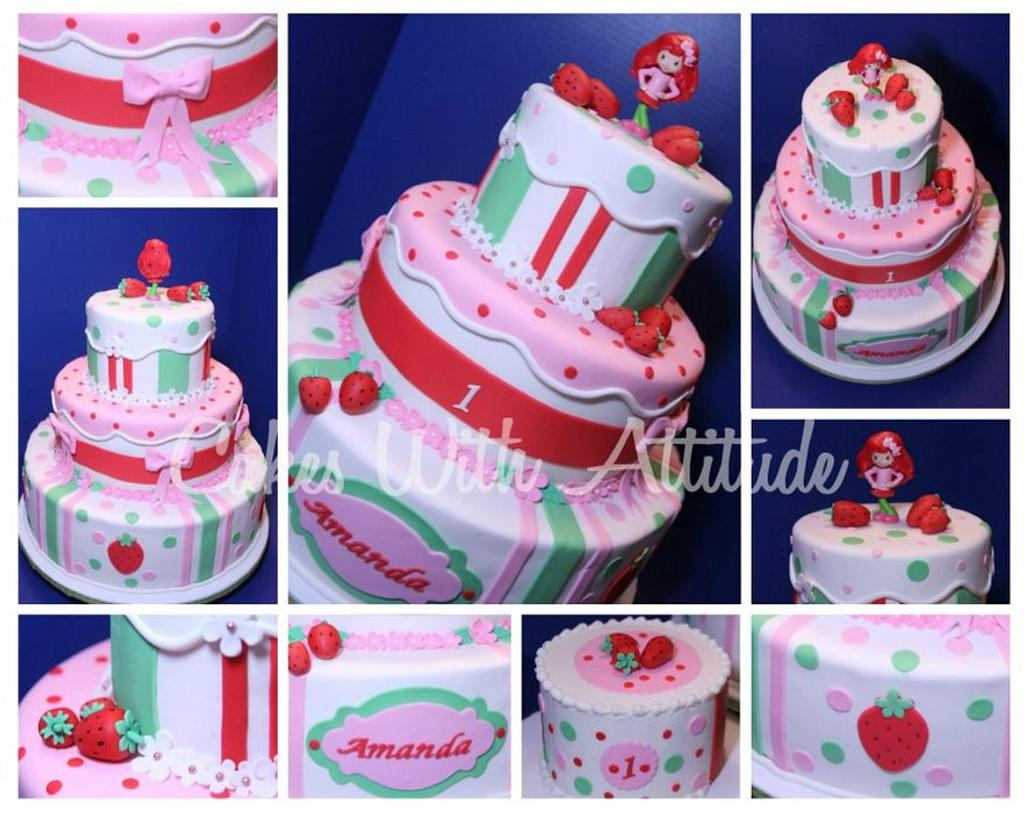 Strawberry Shortcake Cake by Viviana & Guelcys