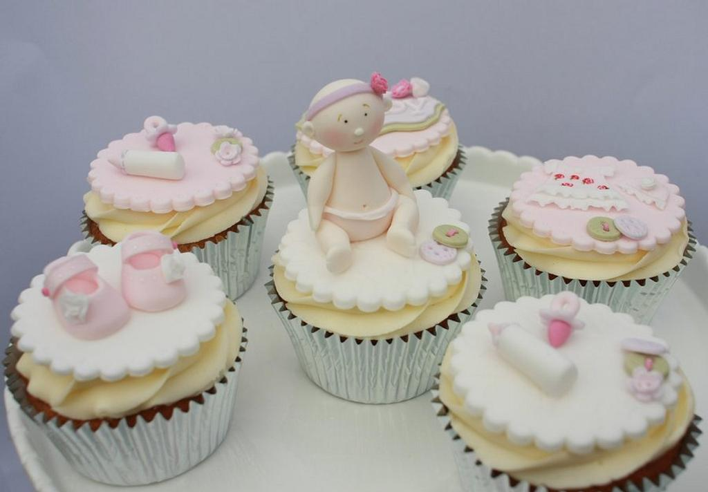 Baby shower cupcakes by Natasha Thomas