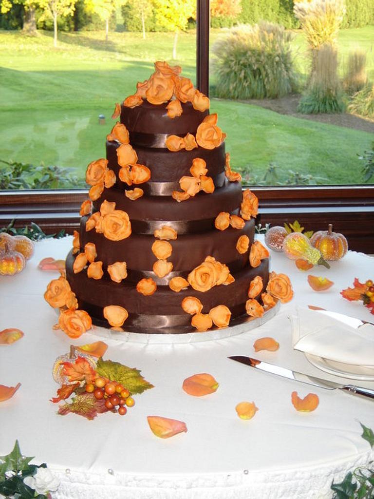 Chocolate wedding cake by pastrychefjodi