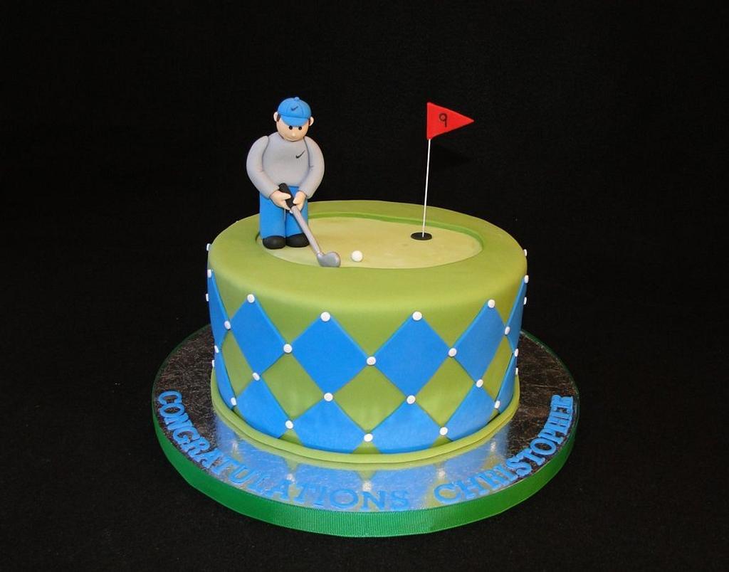 Golf Cake by Elisa Colon