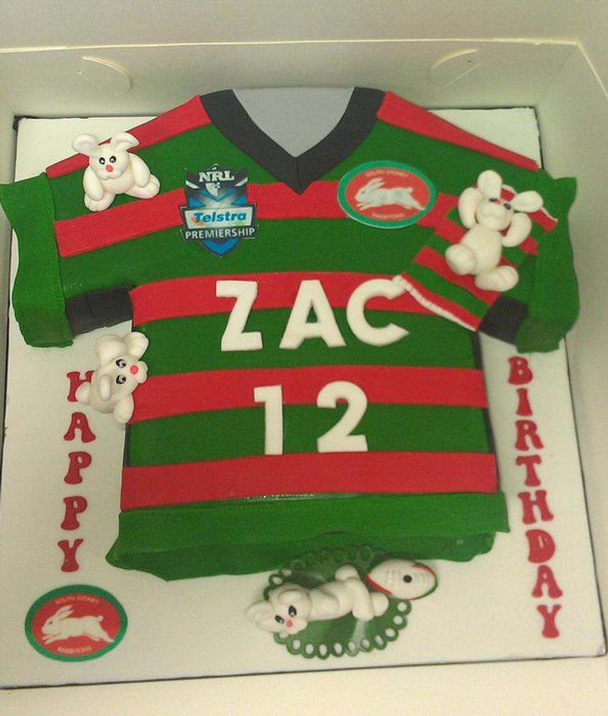 Rabbitohs jersey and cheeky bunnies by jodie baker