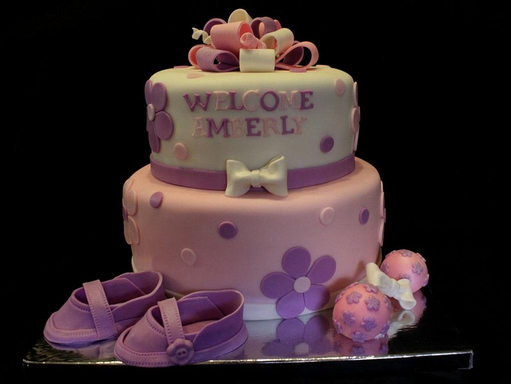 Girly Babyshower Cake  by Jewell Coleman