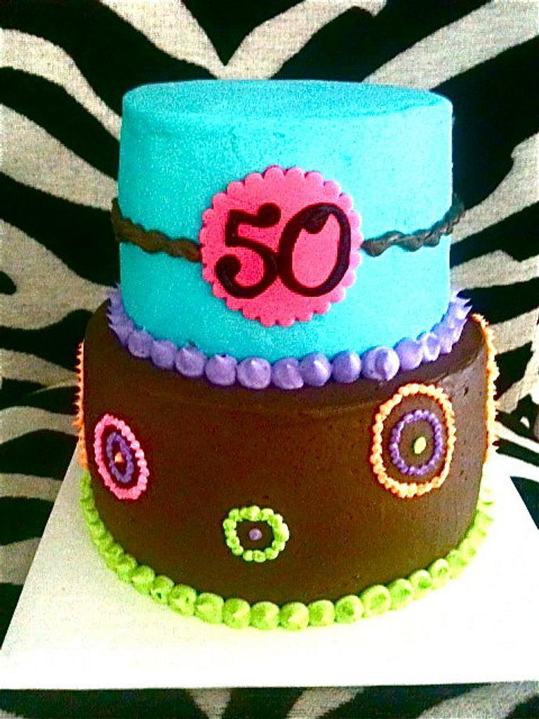 50th Birthday Cake by Amanda Trahan