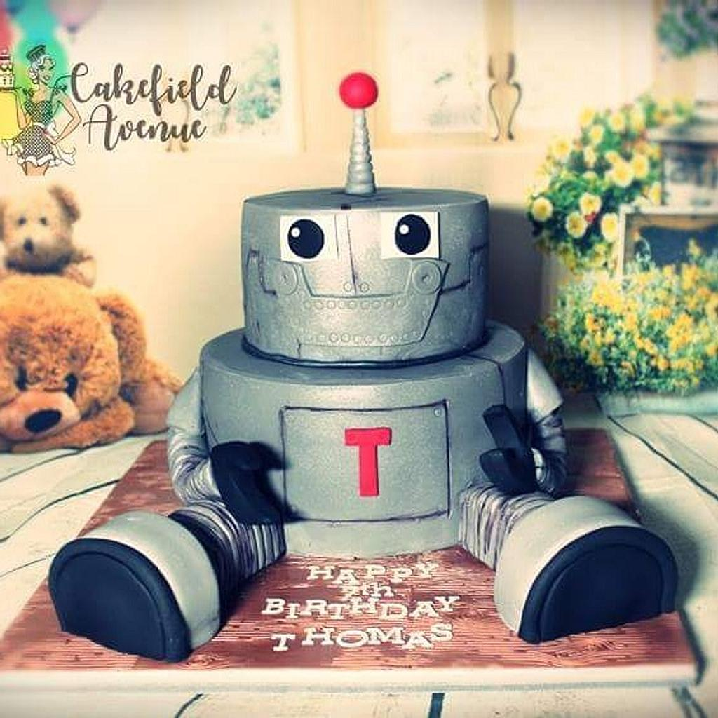 Robot Cake by Agatha Rogowska ( Cakefield Avenue)
