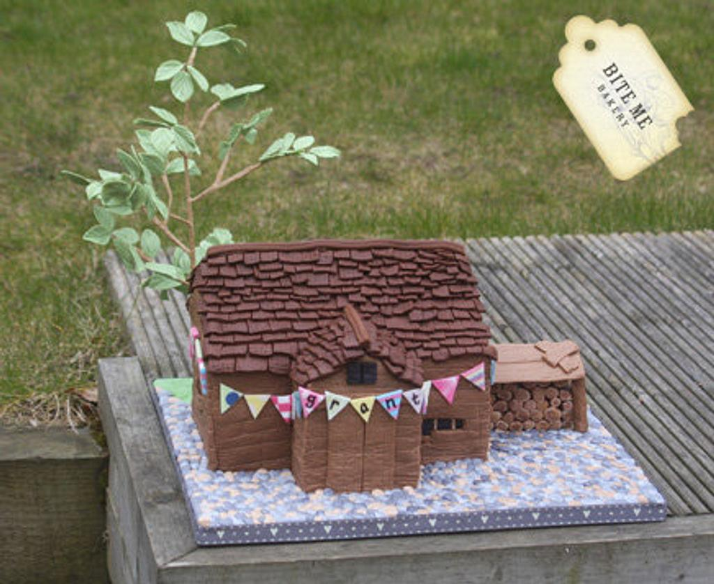 Delapidated Barn Birthday Cake... watch out for the rat! by Samantha Pilling