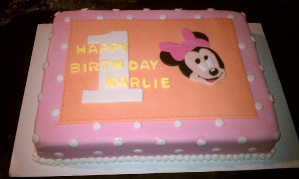 Minnie Mouse Birthday by CakeEnvy