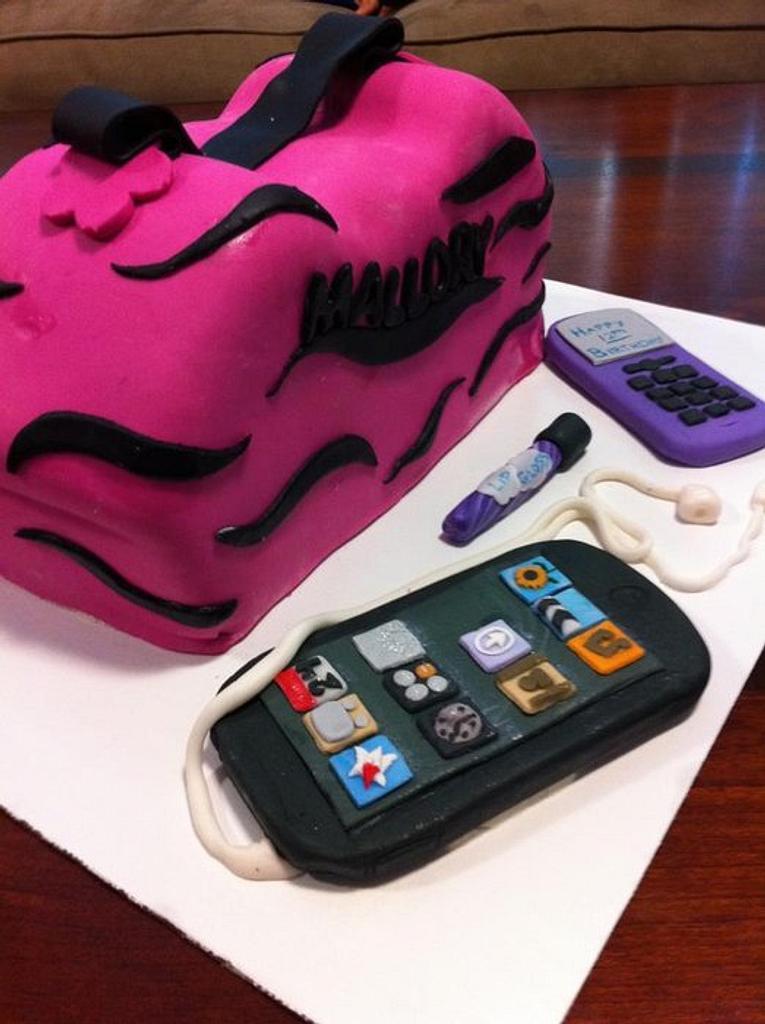 Rocker-Girl Purse Cake by CrystalMemories