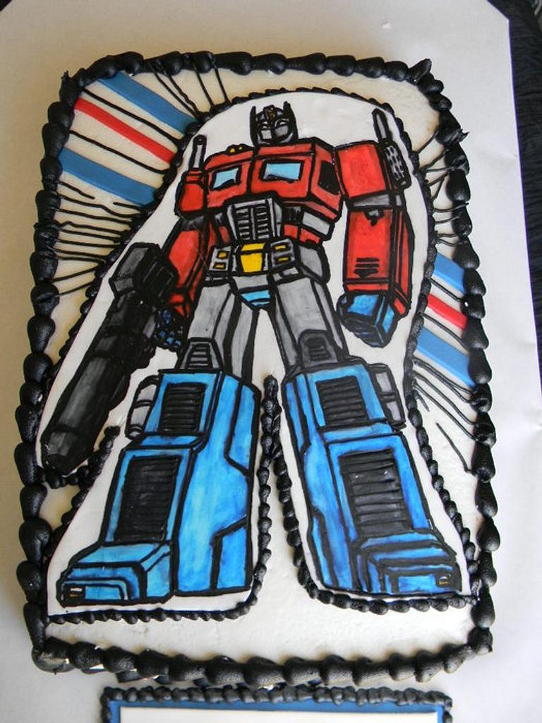 Optimus Prime, Transformers by Donna Tokazowski- Cake Hatteras, Hatteras N.C.