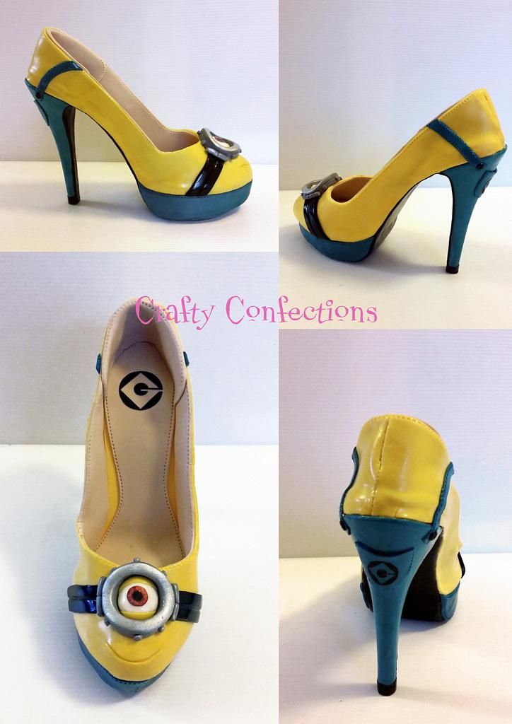 Minion shoe - just for fun! by Kelly Cope