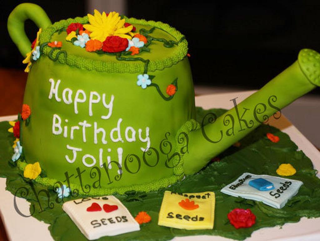 Watering Can Cake by Sandy Thompson