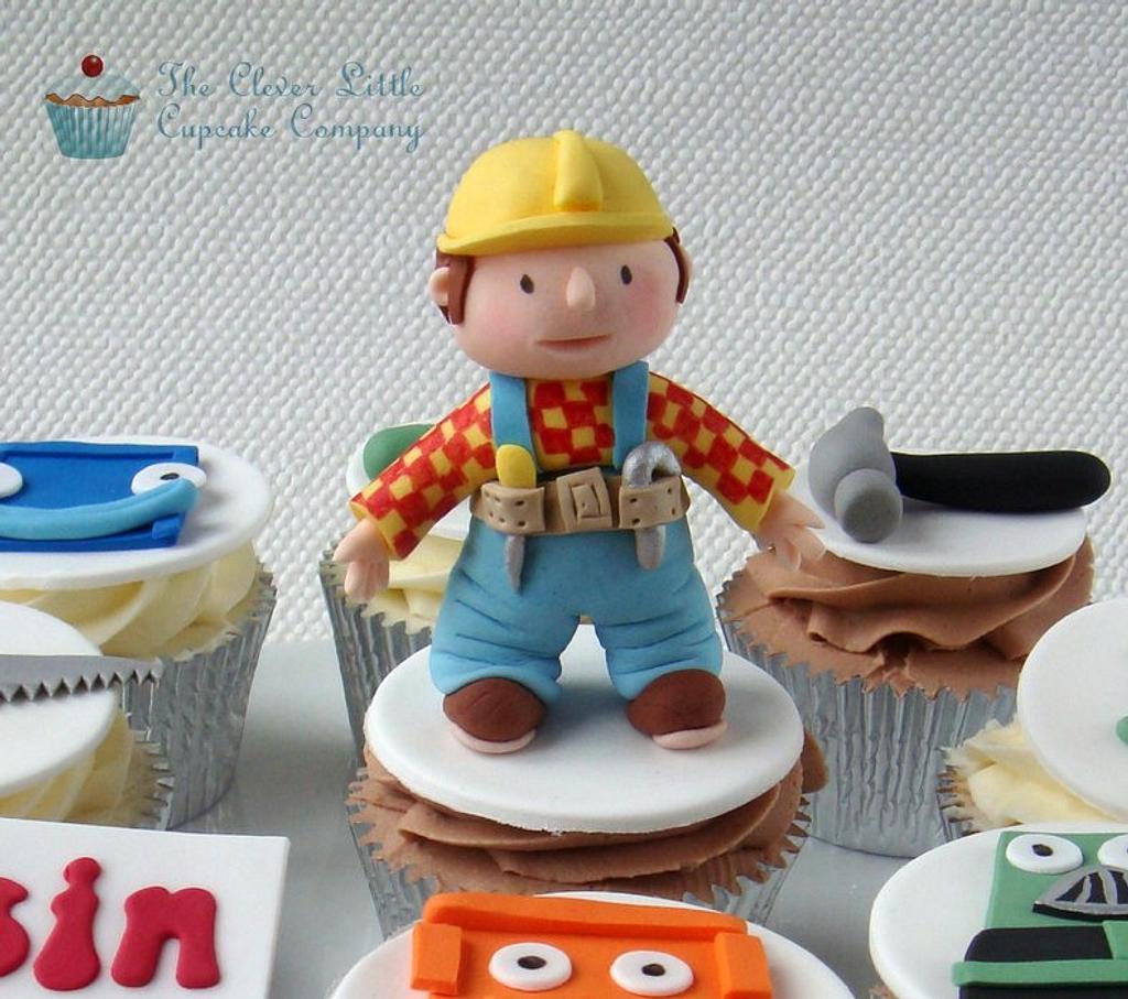 Bob the Builder Cupcakes by Amanda's Little Cake Boutique