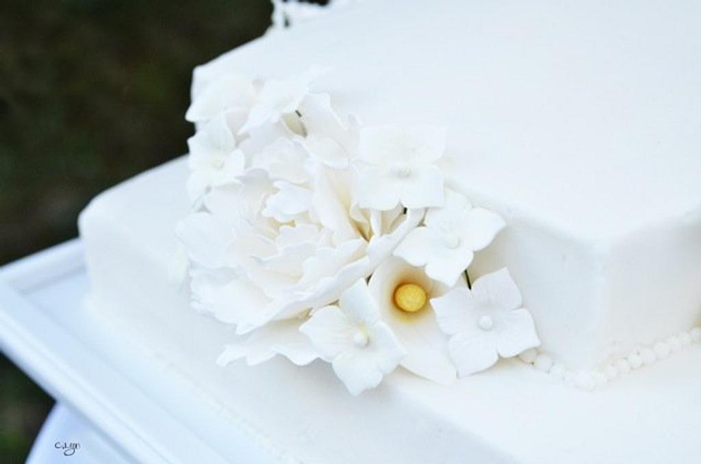 White Wedding Cake by Kristen Babcock