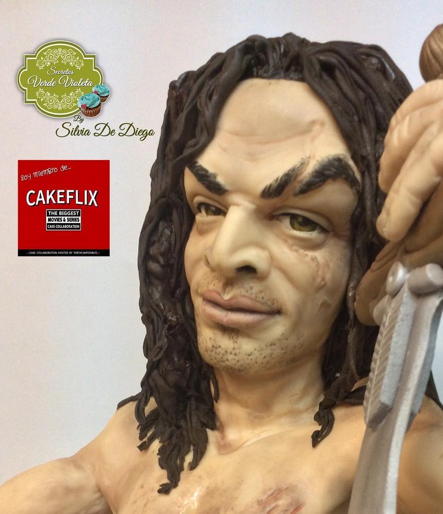 Cakeflix Collaboration Conan el Barbaro by secretos verde violeta