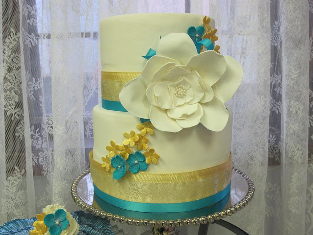 Turquoise and Gold by Elyse Rosati