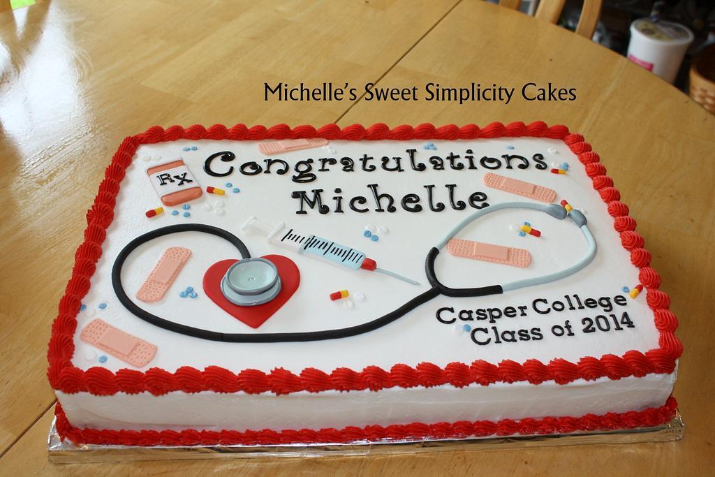 Nursing School Graduation Cake by Michelle
