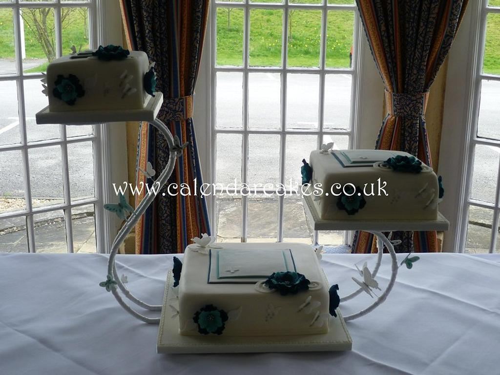 Three tier wedding cake by Jackie