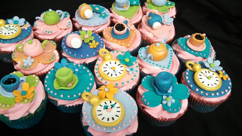 Whimsical Tea Party Cupcakes by Elyse Rosati