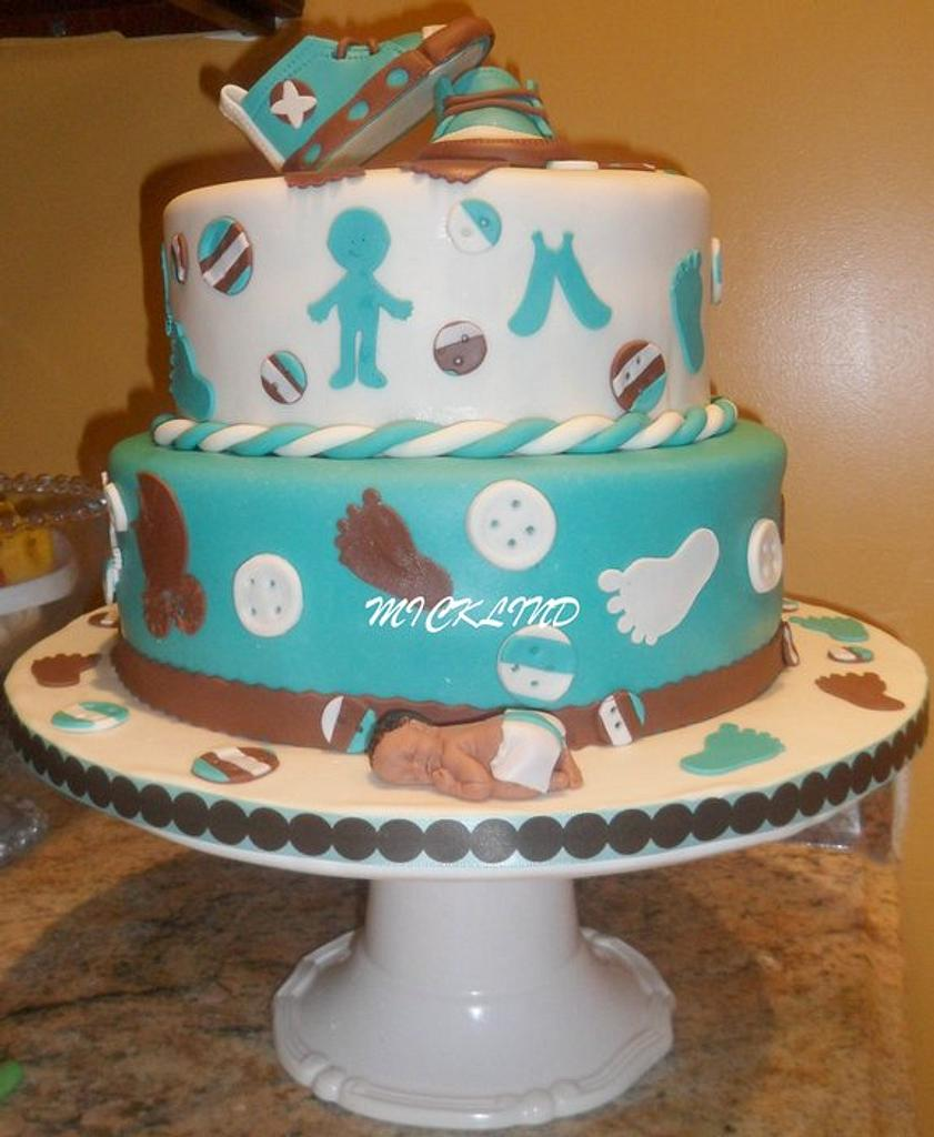 A BABY SHOWER CAKE by Linda