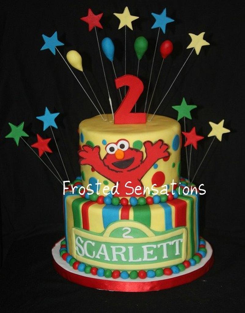 Elmo Birthday Cake by Virginia