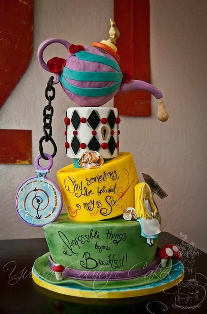 Alice in Wonderland cake by Jamie Hoffman