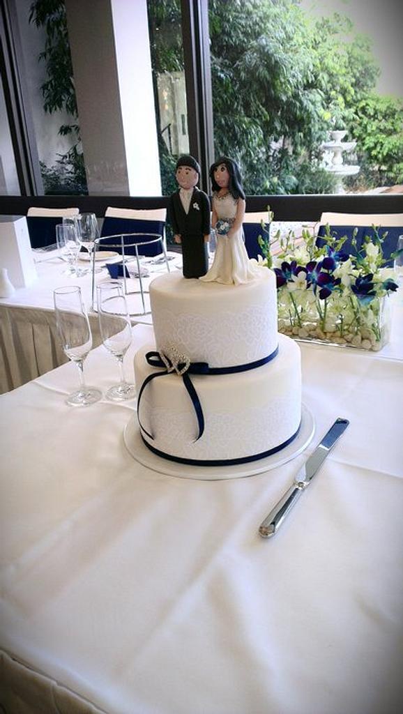 Lace Wedding Cake by novita