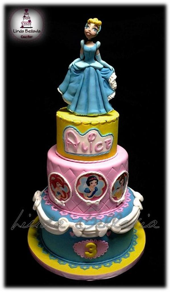 Cinderella princess cake by Linda Bellavia Cake Art