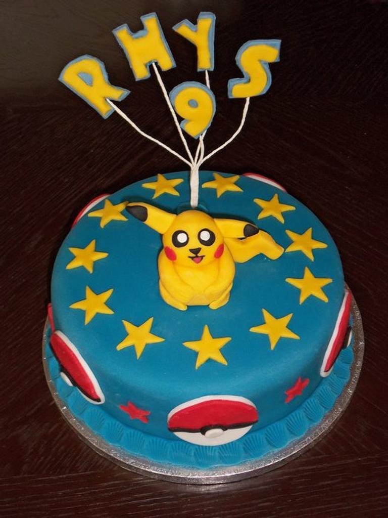 Cute Pikachu cake! by Helen