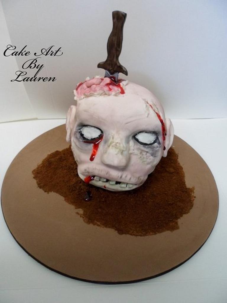 Zombie Head Birthday by Lauren