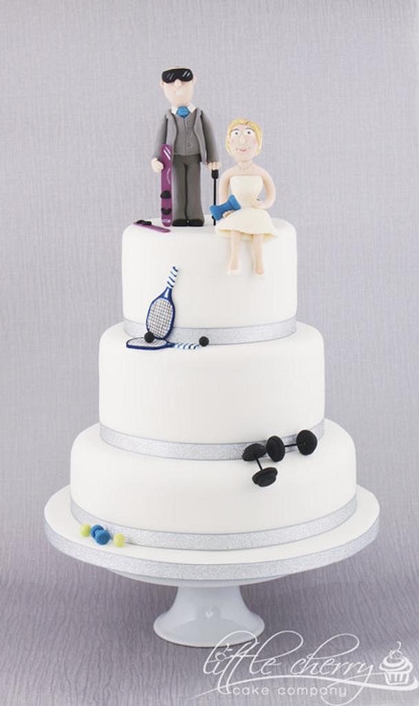 Sports Wedding Cake by Little Cherry