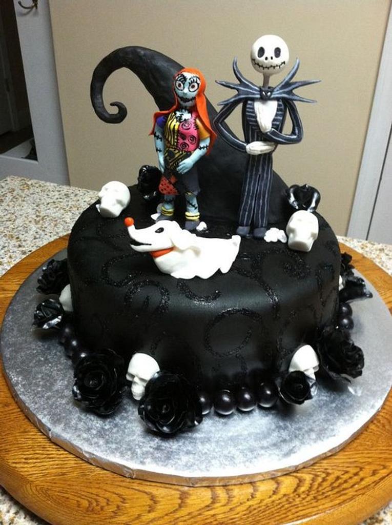 Nightmare Before Christmas Birthday Cake by Tetyana