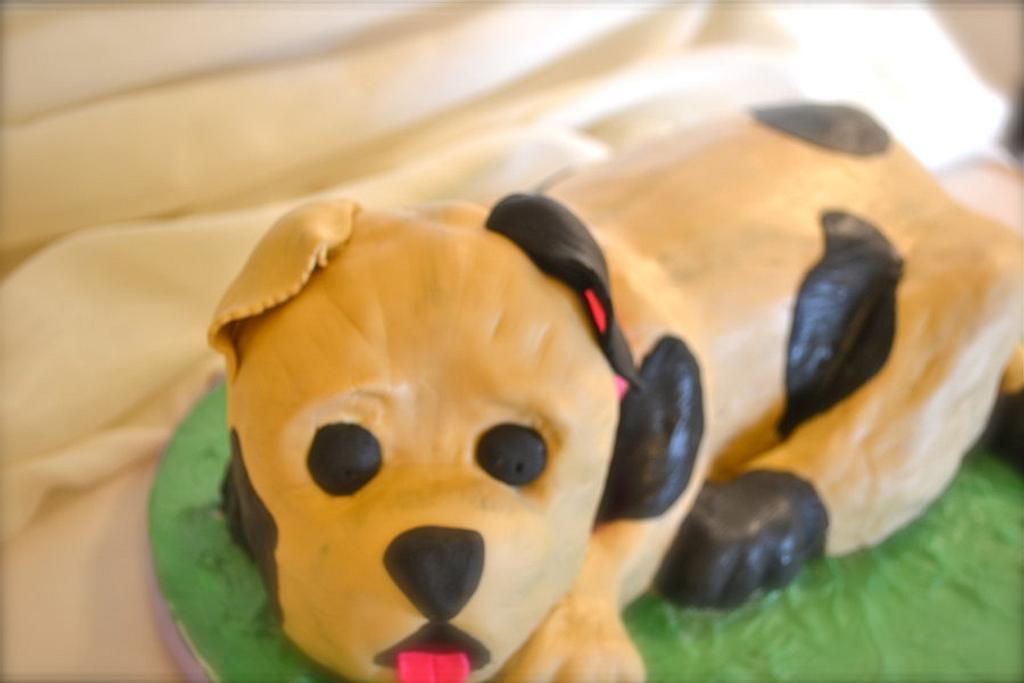 3D Dog Cake by CrystalMemories