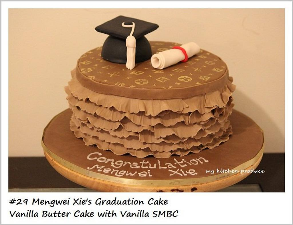 LV Graduation Cake by Linda Kurniawan