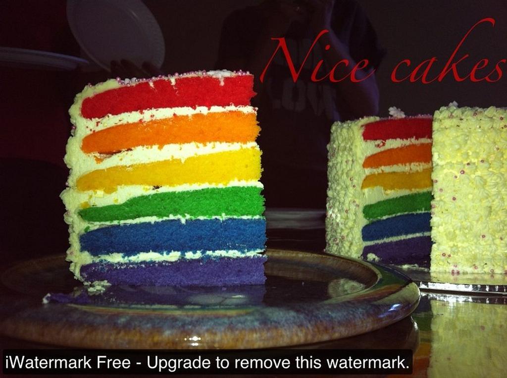 rainbow cake by Hope