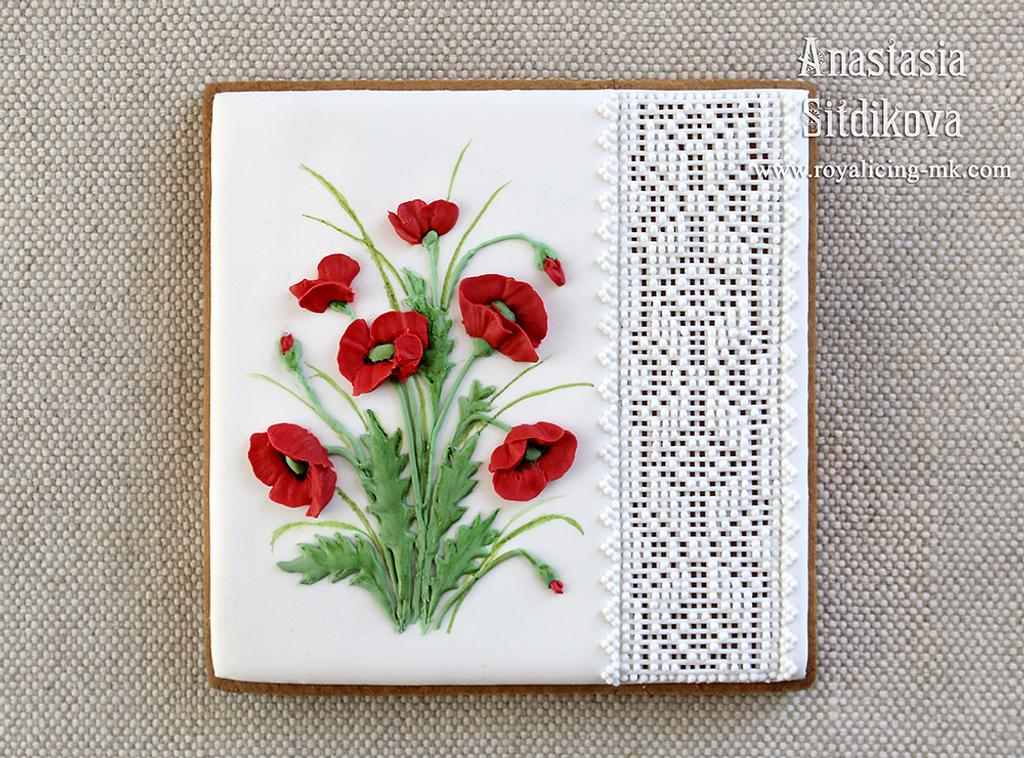 """Cookie """"Poppies"""" by Anastasia"""