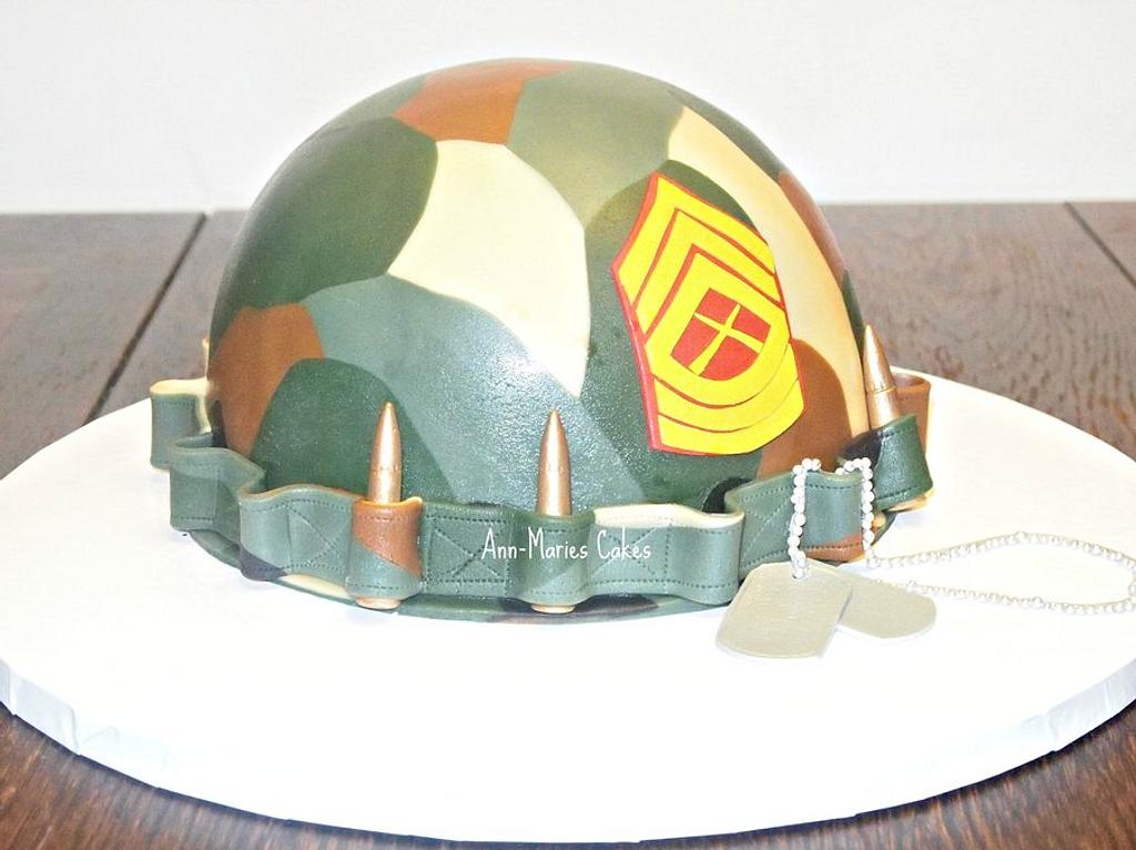 Camo Helmet by Ann-Marie Youngblood