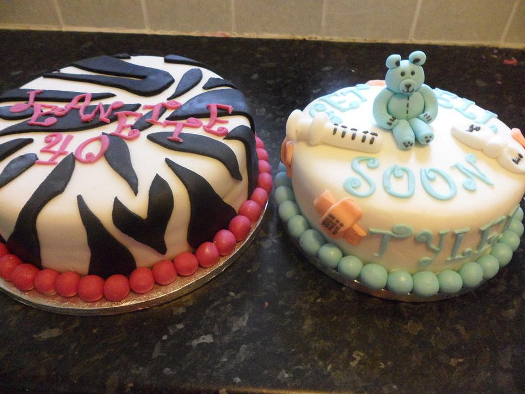 40th Celebration cake / Get well soon child cake :) by Natalie Watson