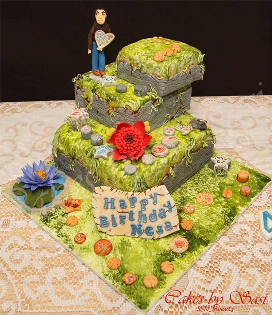 Stepping Stones : Life so far and beyond.....(40th Birthday cake) by CakesbySasi