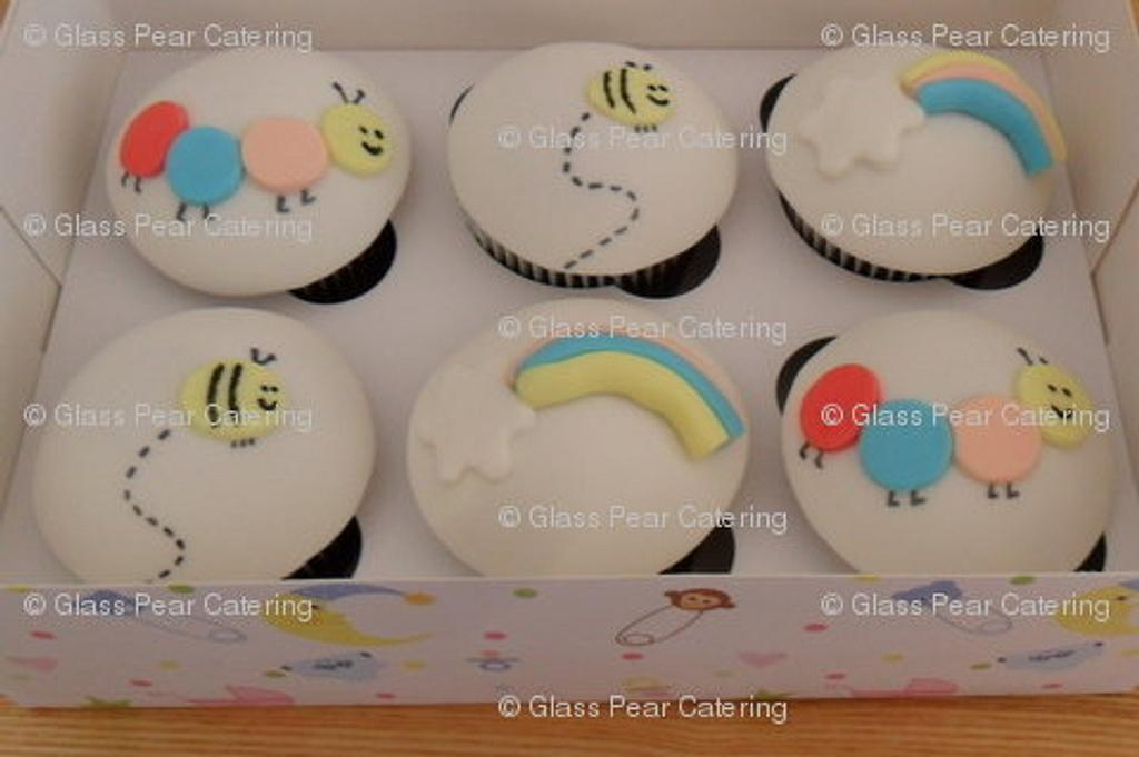 Baby Shower Cupcakes by Glass Pear Catering