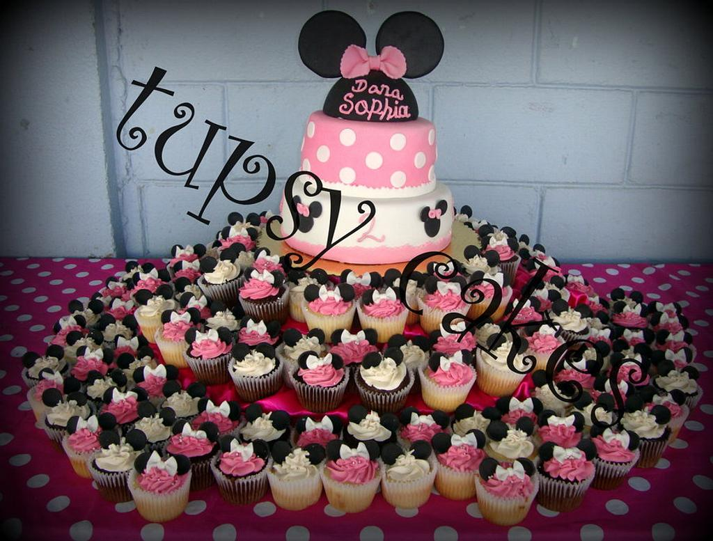 miniie mouse in pink by tupsy cakes
