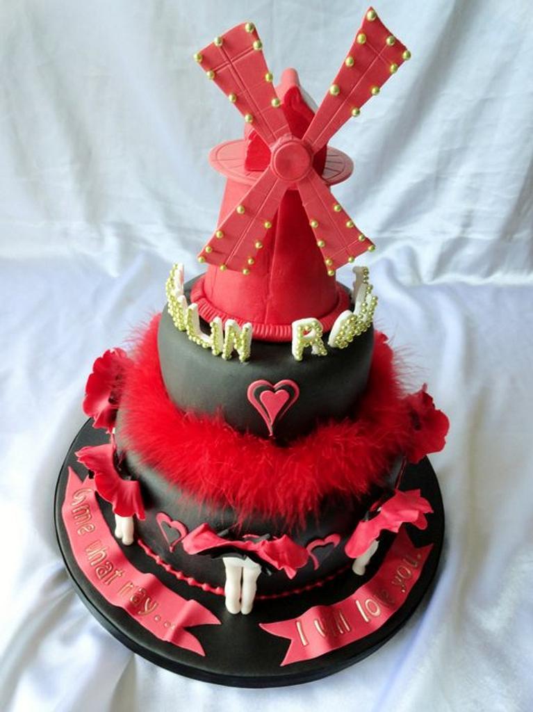 Moulin Rouge Cake by rachelscreations13