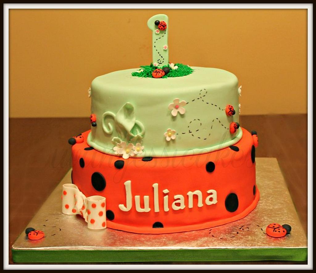 Ladybug 1st birthday cake & smash cake by Jessica Chase Avila