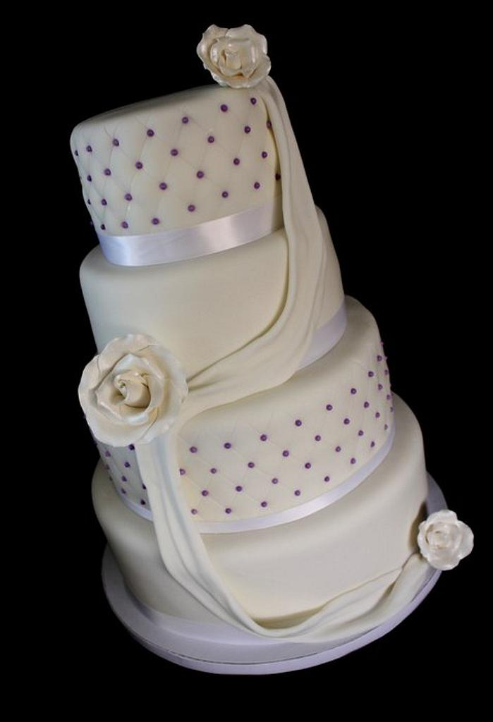 White Wedding Cake  by Jewell Coleman