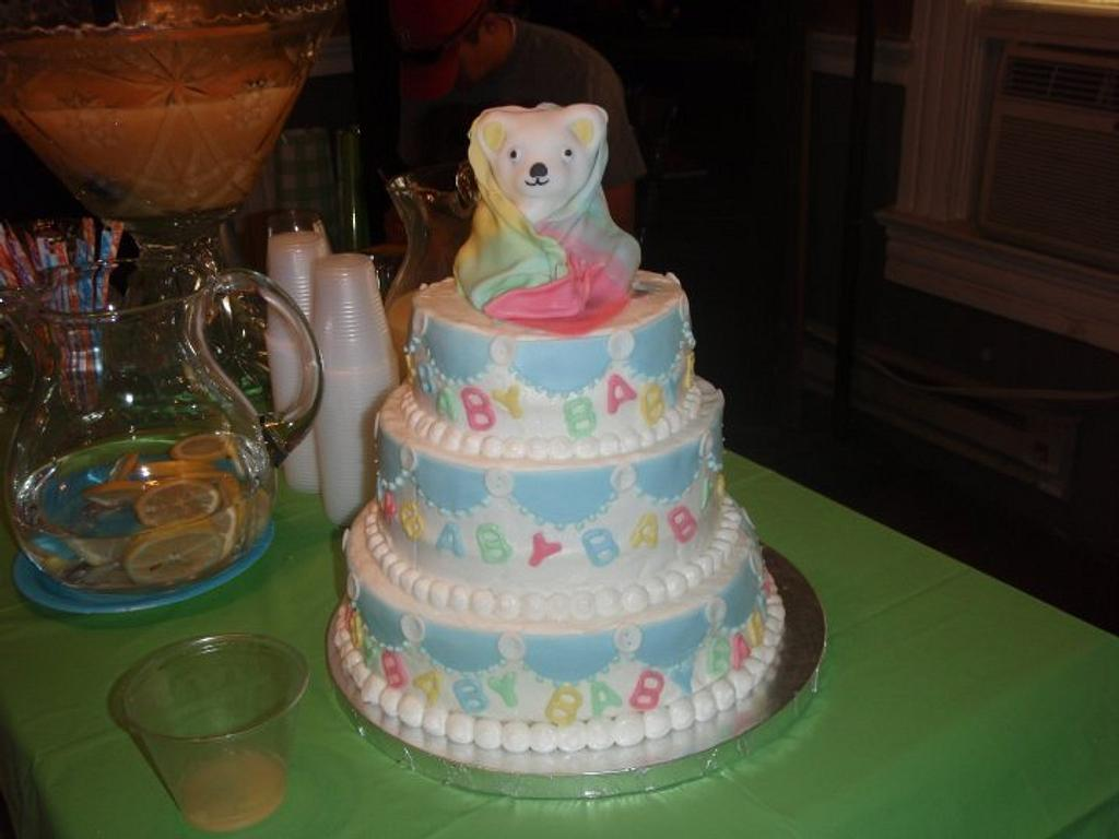 Baby Shower Cake for unknown sex baby by Christy