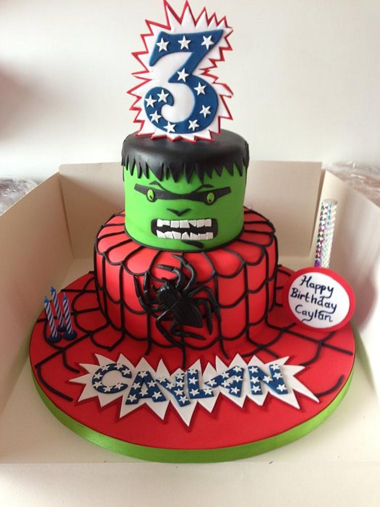 spiderman and hulk theme by Donnajanecakes