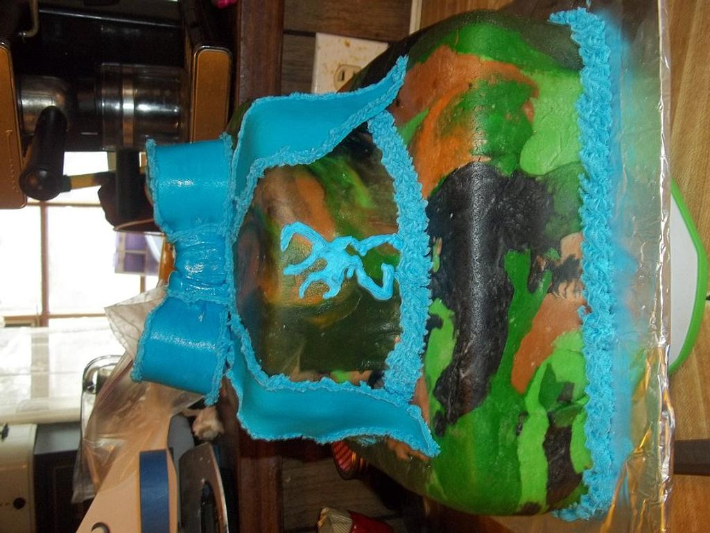 Blue Camo Cake by Cindy White