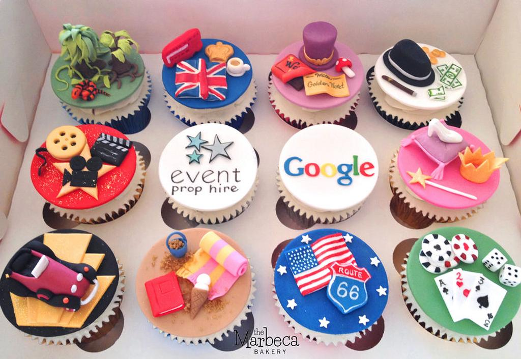 Mixed Theme Cupcakes by The Marbeca Bakery