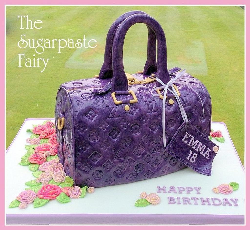 Purple LV bag by The Sugarpaste Fairy